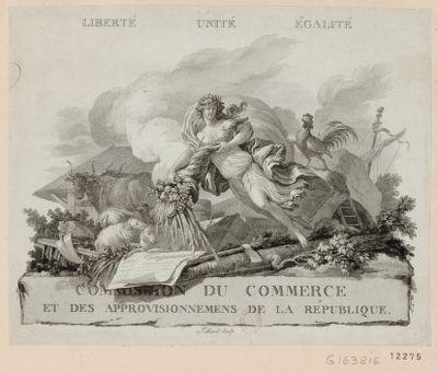 Commission du commerce et des approvisionnemens de la République liberté unité égalité : [estampe]