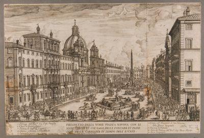Prospetto della nobil piazza Navona con i nuovi edifici