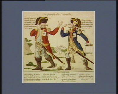 La  Querelle des brigands air : que le sultan Saladin... : [estampe]