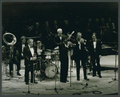 Turk Murphy Jazz Band at Carneige Hall: Bill Carroll, Bud Spangler, Wayne Jones, Bill Armstrong, Bob Schulz, Lew Green, Ron Deeter