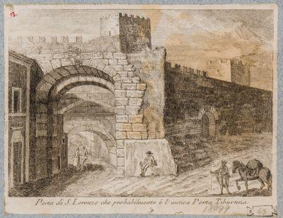 Porta Tiburtina, veduta dall'interno