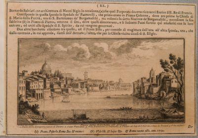 Tevere, sponda del fiume tra l'ospedale di Santo Spirito e S. Giovanni dei Fiorentini