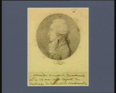 Alexandre vicomte de Beauharnais né le 28 mai 1760 : député des bailliages de Blois et de Romorantin : [dessin]