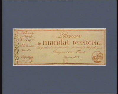 Promesse de mandat territorial [estampe]
