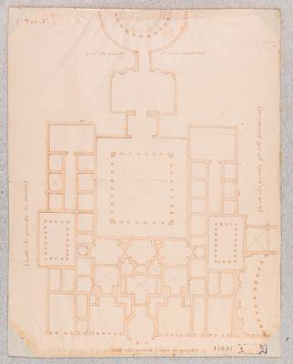 Palatino, pianta di alcune costruzioni fra gli Orti Farnesiani, il Circo Massimo e lo Stadio già appartenente alla Domus Augustana