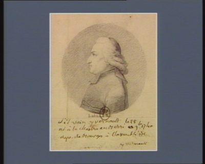 Silvain Yvernault né à la Chastre en Berri le 28 9.bre 1740 dép. de Bourges à l'Assemblée : [dessin]