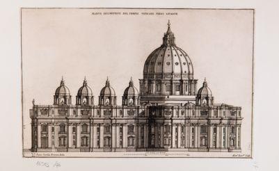 Fianco geometrico del Tempio Vaticano verso levante