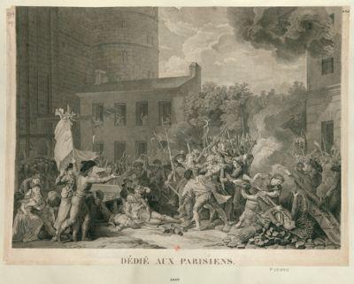 [Prise de la Bastille] dédié aux Parisiens : [estampe]