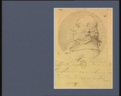 Afforty député de la vicomté de <em>Paris</em> né à Aulnay les Gondis le 20 novembre 1724 [dessin]