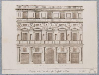 Casa di Raffaello, prospetto