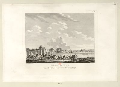 Déroute de Passy le 13 juillet 1793, ou 25 messidor an I.er de la République : [estampe]