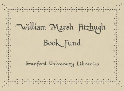 William Marsh Fitzhugh Book Fund