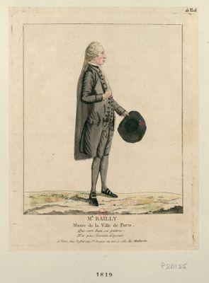 Mr Bailly maire de la ville de <em>Paris</em> qui sert bien sa patrie n'a pas besoin d'ayeux : [estampe]