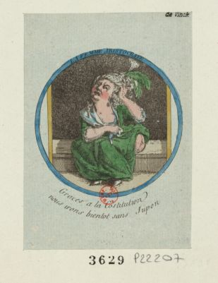 La  Femme aristocrate [estampe]