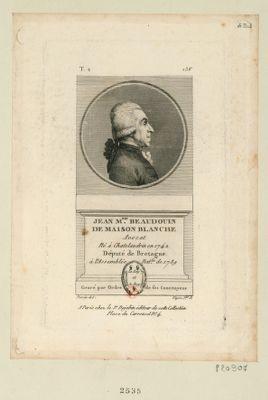 Jean-M.rie Beaudouin de Maison Blanche avocat né à Chatelaudrin en 1742 député de Bretagne à l'Assemblée nat.le de 1789 : gravé par ordre de ses concitoyens : [estampe]