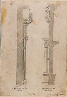 Porta Pia, profilo degli elementi architettonici