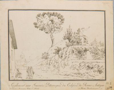 Quirinale. Veduta del muro di sostegno nel giardino Barberini