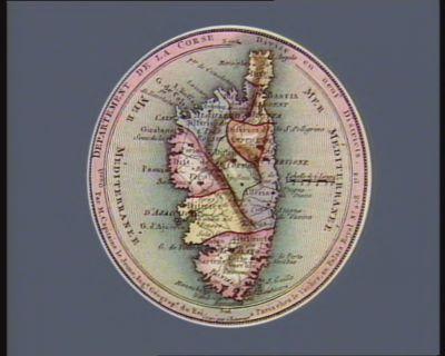 Departement de la Corse divise en neuf districts : [estampe]