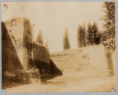 Castro Pretorio. Mura di cinta, angolo
