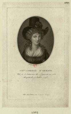 Ch.tte Corday d'Armans née à St Saturnin... : [estampe]