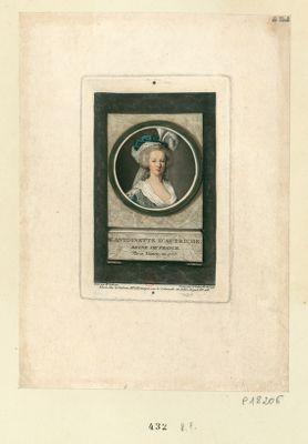 M.e Antoinette d'Autriche reine de France né à Vienne en 1755 : [estampe]