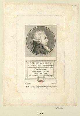 P.re Marie J. B. Flaust l.t g.al au bail.ge de Vire membre de l'assemblée et commission intermédiaire provencial de la généralité de Caen né à Rouen le 19 8.bre 1762 député de Caen à l'Assemblée nat.le de 1789 : [estampe]