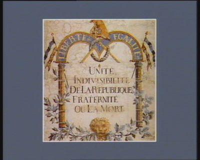 Unité, indivisibilité de la Republique fraternité ou la mort liberté egalité : [estampe]