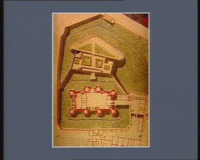 Plan de la Bastille dans la premiere origine cette forteresse etoit l'entrée de la ville et ne consistoit qu'en deux tours construites sous le regne du roi Jean ; par la suite on éleva deux autres tours... : [estampe]