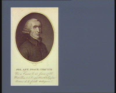 Jos. Ant. Joach. Cerutti né a Turin le 13 juin 1738 mort a Paris le 3 fev. 1792 l'an 1.er de la Rep. franc. : auteur de la Feuille villageoise : [estampe]