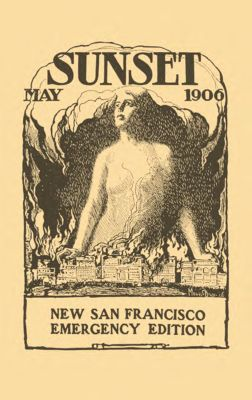 Sunset Magazine cover. May 1906