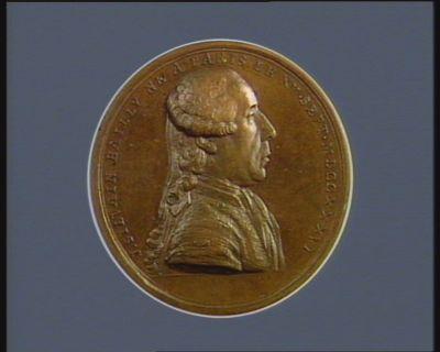 J. SILVAIN BAILLY NE A PARIS LE XV. SEPT. MDCCXXXVI [Droit] ASTRONOME, // AUTHEUR DE L'HISTOIRE // DE L'ASTRONOMIE, MEMBRE DES TROIS ACADÉMIES // ... [Revers]