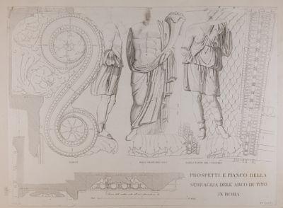 Arco di Tito, chiave dell'arco