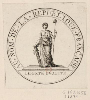 Au nom de la République française Liberté, Egalité : [estampe]