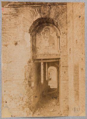 Mura Appie, via di Ronda con affresco del sec. XV