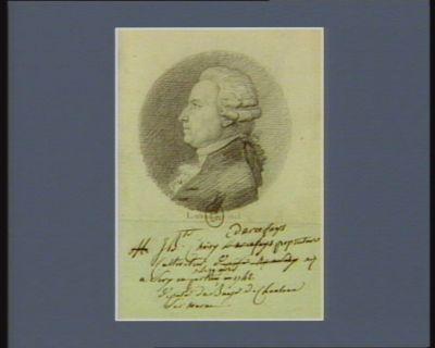 J. B.te Choicy d'Arcefays propriétaire cultivateur né le 19 avril 1742 à Séry en [illisible] député de Chalons-sur-Marne : [dessin]