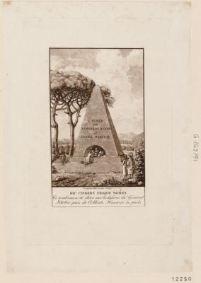 Hic cineres ubique nomen ce tombeau a été élevé sur les dessins du <em>général</em> Kléber près de Coblentz hauteur 50 pieds : [estampe]