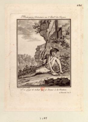 Margry, Volontaire au 5.e. Bat.on des Vosges J'ai payé le tribut que je devais à la Nation. 2 Floréal An 3 : [estampe]