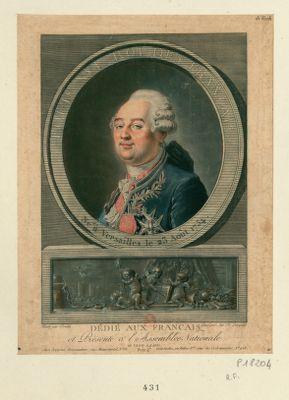 Louis XVI roi des Français né à Versailles... : [estampe]