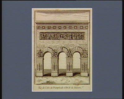 Vue de l'Arc de triomphe, du côté de la rivière [estampe]