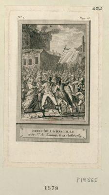 Prise de la Bastille et du S.r de Launay, le 14 juillet <em>1789</em> : [estampe]