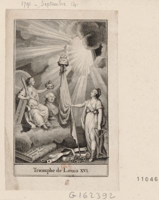 Triomphe de Louis XVI [estampe]
