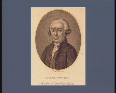 Goupil-Prefeln membre du Conseil des Anciens : [estampe]