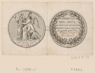 Commune des arts de peinture sculpture architecture et gravure constituée le 18 juillet 1793... : [estampe]