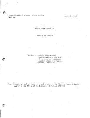 Non-printing Compiler. AIM-006