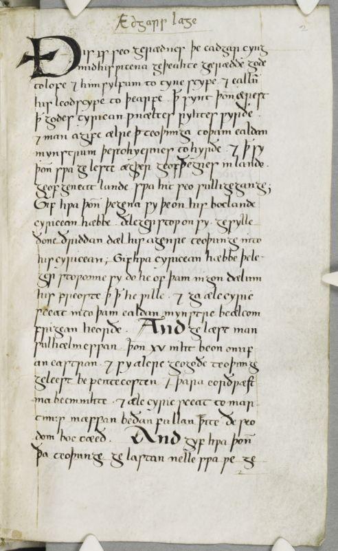 Cambridge, Corpus Christi College, MS 383: Anglo-Saxon Laws