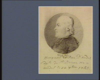 Hingant recteur d'Andel dép.té de St Brieuc né à Andel le 10 7.bre 1745 : [dessin]