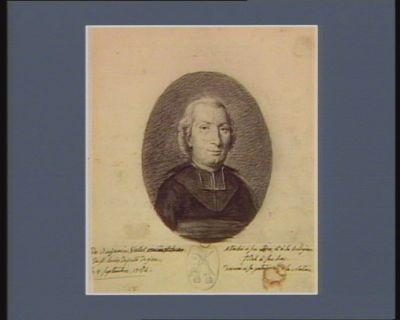 [Clau]de Benjamin Vallet [curé] de S.t Louis, deputé de Gien, [né le] 2 septembre 1754 : attaché à son ordre et à la religion, fidel à son Roy, devoué à sa patrie [et à] la <em>nation</em> : [dessin]