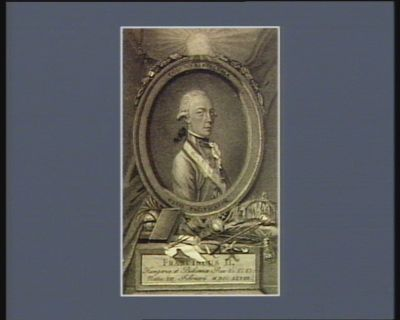 Franciscus <em>II</em> Hungariae et Bohemiae Rex &c &c &c natus XII, Febriuarii MDCCLXVIII Columna ecclesiae orbis pacificator : [estampe]