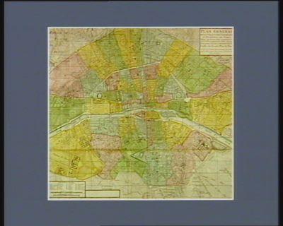 Carte topographique du département de Paris decreté par l'Assemblée nationale le 13 janvier 1790 [estampe]