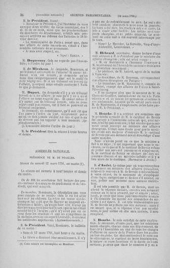 Tome 24 : Du 10 mars au 12 avril 1791 - page 38